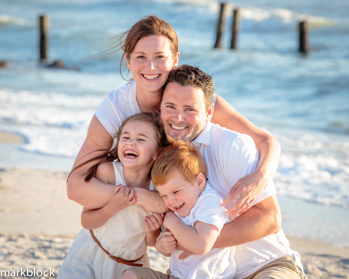 Family portrait on beach in Naples, FL by Mark Block