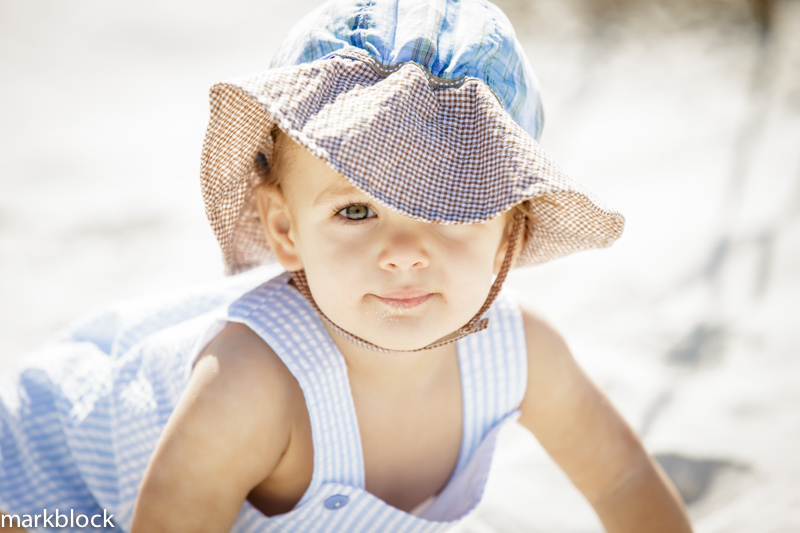 Beach portrait photo of a child on Naples beach by Mark Block Photography